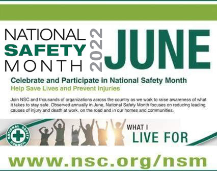 YCUA reminds you that June is National Safety Month.